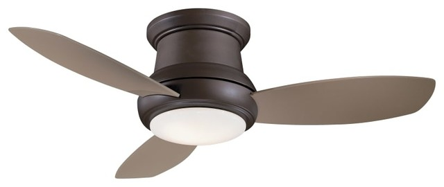 "Minka Aire Concept Ii Oil Rubbed Bronze 44"" Flush Mount Ceiling Fan."
