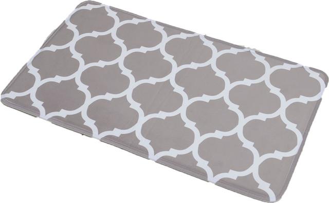 Printed Microfiber Bath Mat Bath Rug 295x17 Escal