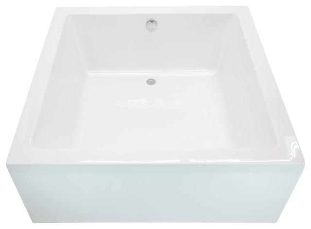 "Apollo 55"" One Piece Acrylic Freestanding Bathtub, Glossy White By Anzzi."