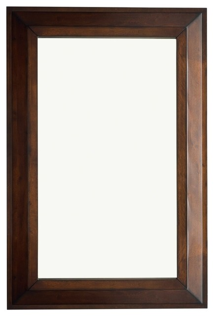 Portland 28 Rectangular Mirror, Burnished Mahogany.