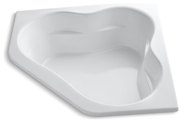 "Tercet 60""x60"" Drop-In Bath, White."