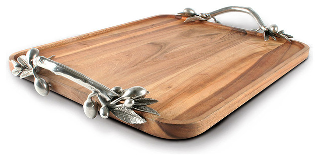 Simple Shop Houzz Bliss Home Uamp Design Olive Acacia Wood Rectangular With Wooden  Trays.