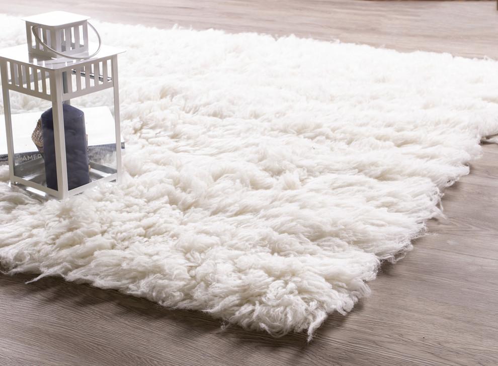 Eco-Friendly Wool Flokati Rug