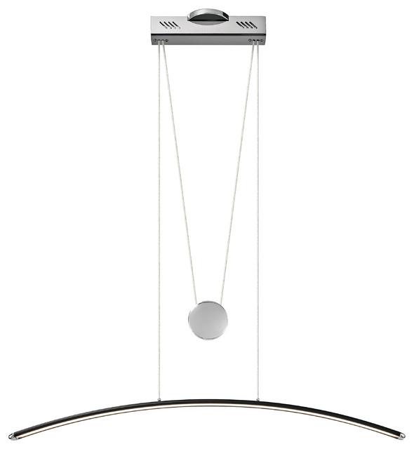 Elan Sava LED Black With Chrome Linear Suspension Pendant/Chandelier