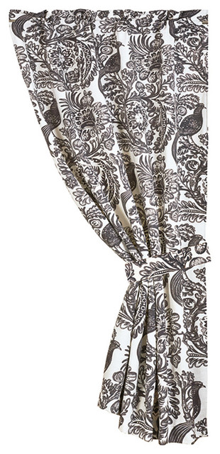 Black Bird Toile Curtain