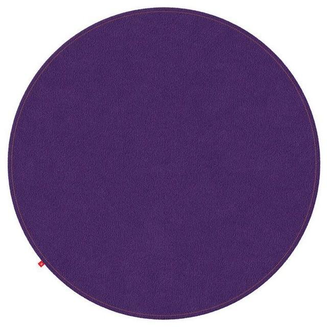 Emilia Purple Rug, Orange Stitching, 200 cm