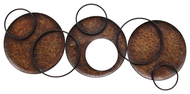 Metal Circle Wall Decor stratton home decor modern circles wall decor - contemporary