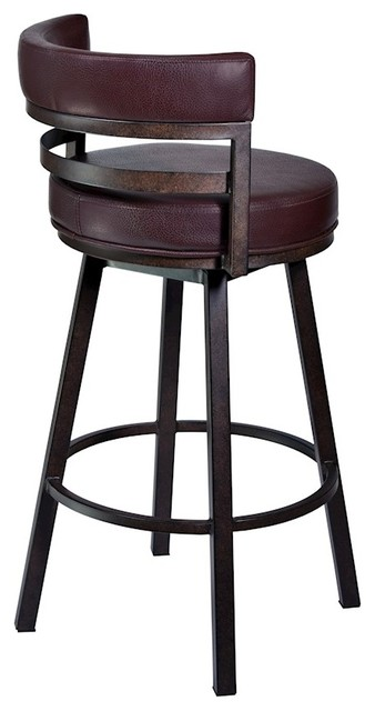 Armen Living Madrid 26 Quot Counter Height Barstool Auburn