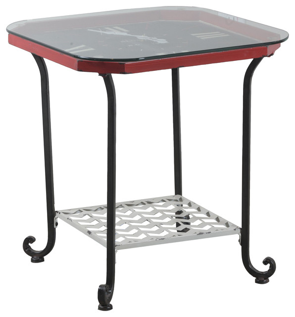 Powell Furniture Powell Black Octogon Clock Table 15a2005