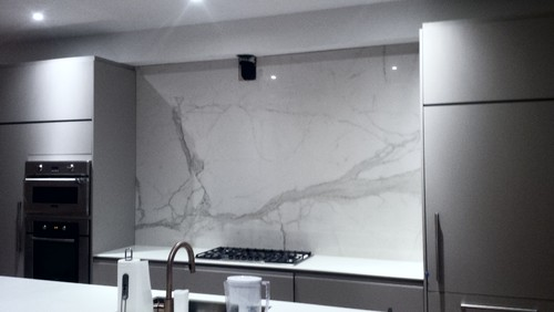 one piece backsplash is the next big thing !!! zero maintenance