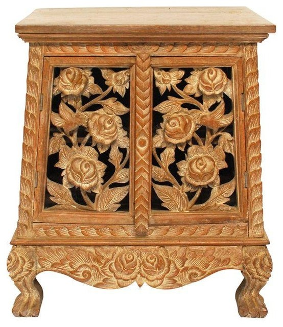 Chinese Hand Carved Temple Cabinet