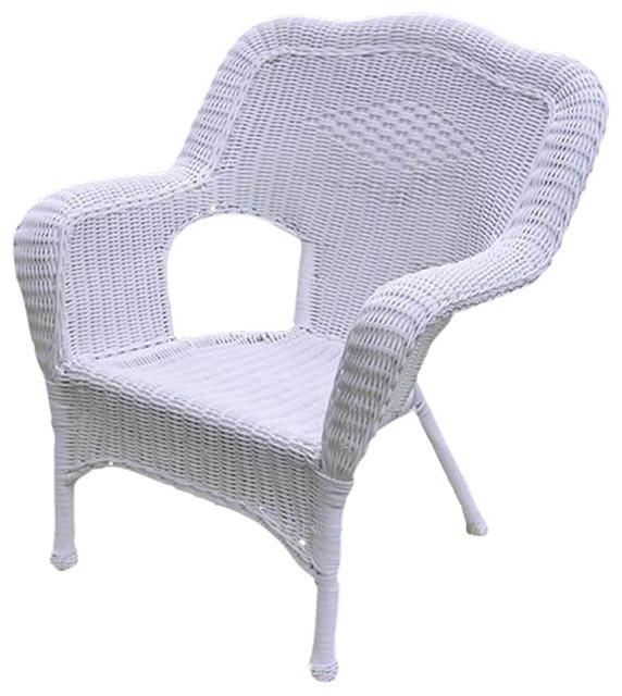 International Caravan Camelback Resin Wicker Patio Chairs Set of 2 Outdoo
