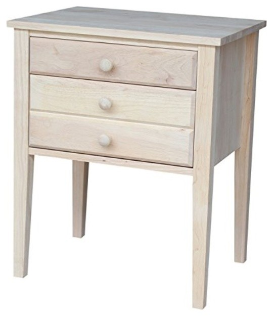 Accent Table With Drawers Unfinished