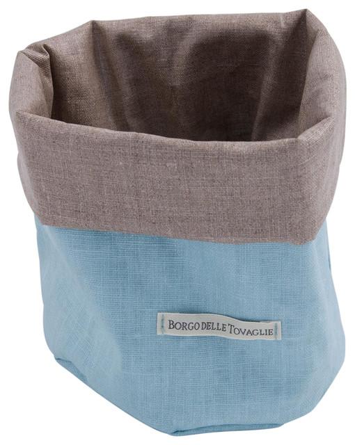 Bauhaus Bread Bag, Sky Blue and Taupe