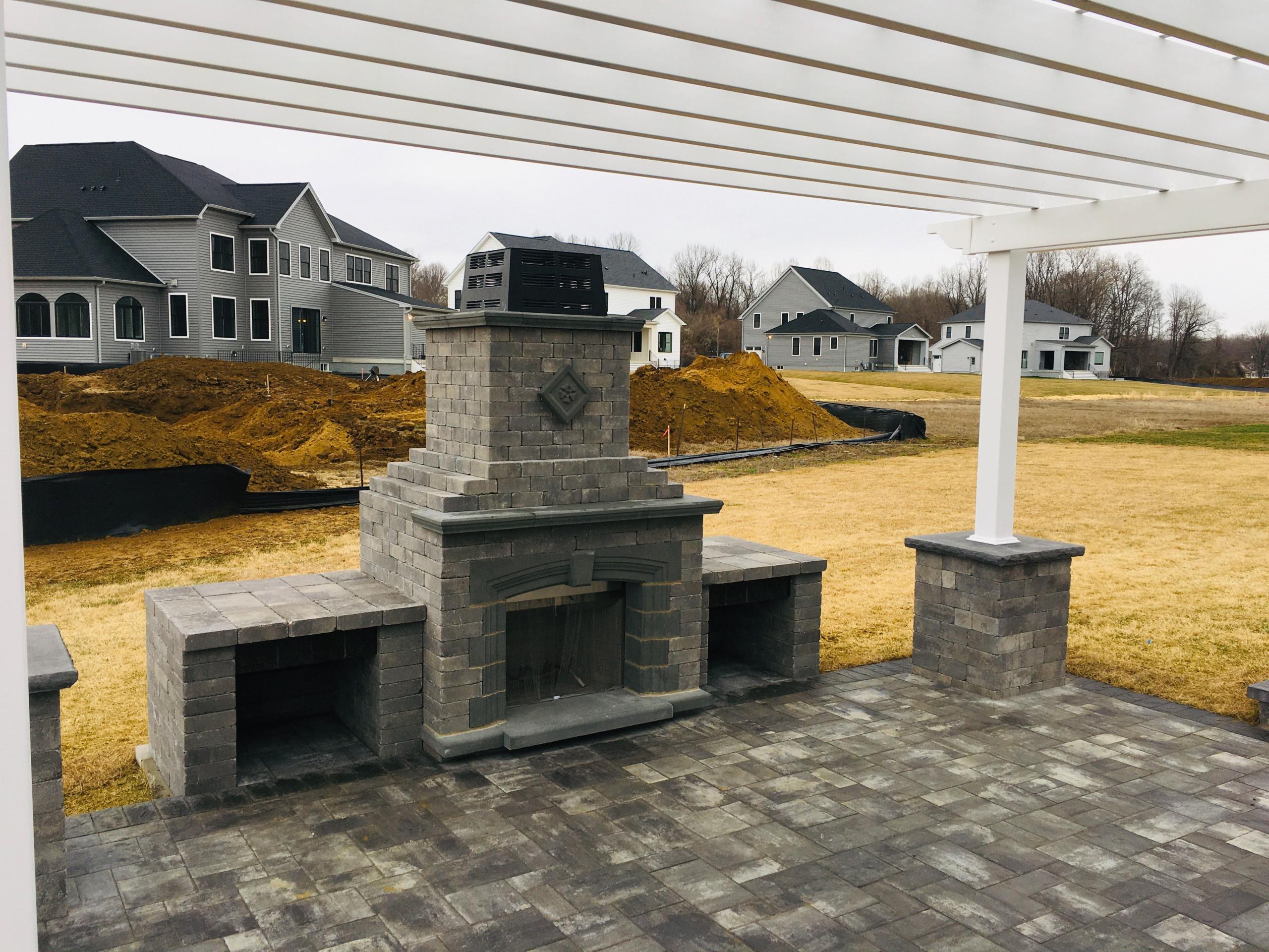 Crofton Pergola / Fireplace