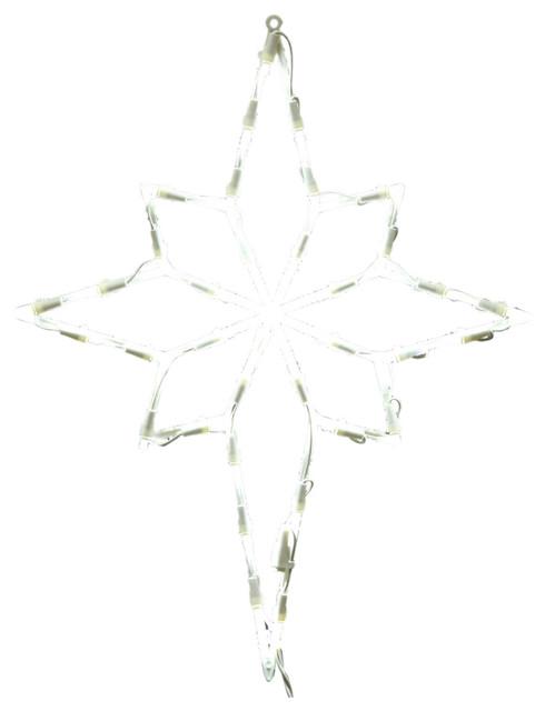 35 Light Led Star Of Bethlehem Window Decor, White.