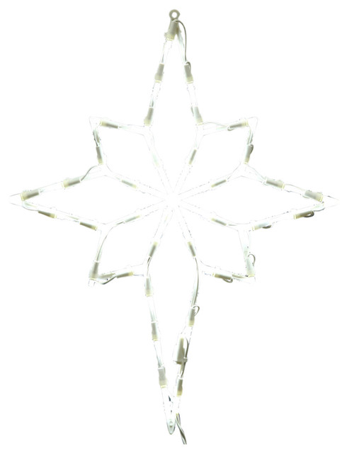 35 Light Led Star Of Bethlehem Window Decor White