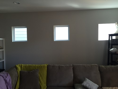 Small Windows Along Living Room Wall