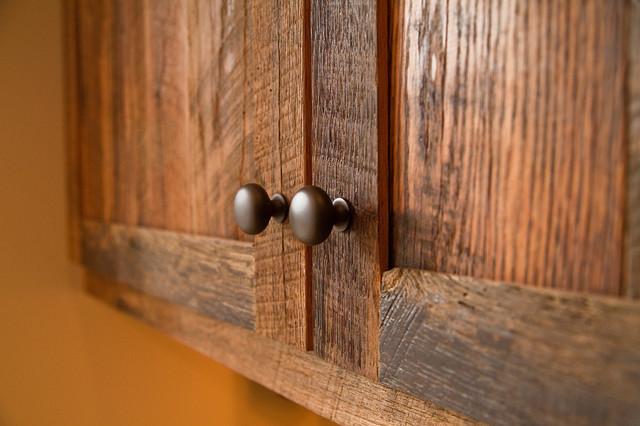 Reclaimed Oak Barnwood Cabinets Rustic