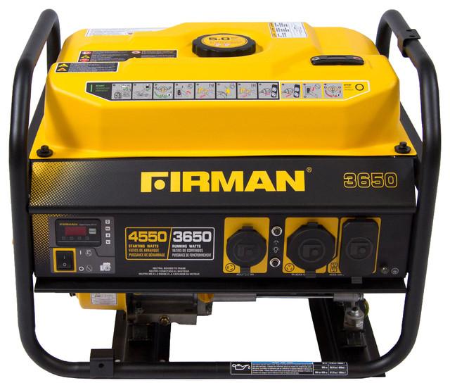 Firman Gas Powered 3650/4550 Watt Extended Run Time Portable Gen - CARB