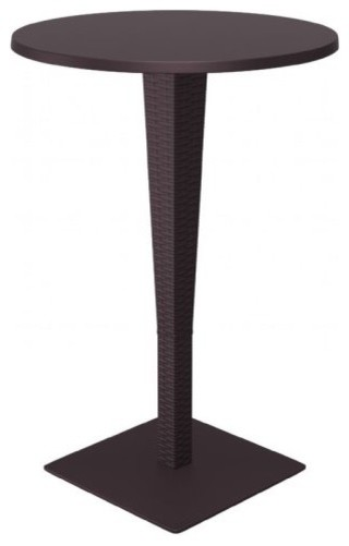 riva werzalit top round bar height table brown