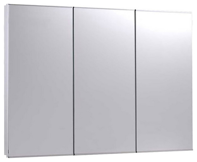 """Tri-View Series Medicine Cabinet, 36""""x30"""", Bright Annealed Stainless Steel Frame"""