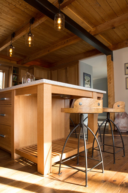 Rustic kitchen renovation rustic portland maine by the good home interiors design - Kitchen design portland maine ...