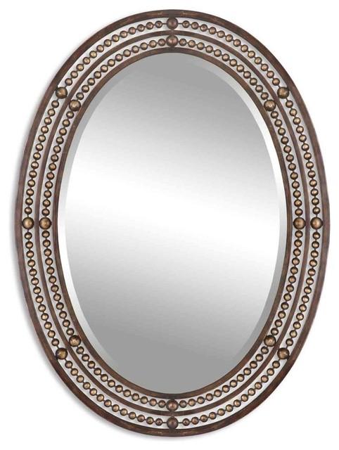 Uttermost Matney Distressed Bronze Mirror.