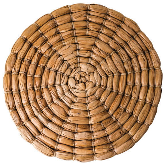 Round Seagrass Placemats, Set of 4 - Tropical - Placemats ...