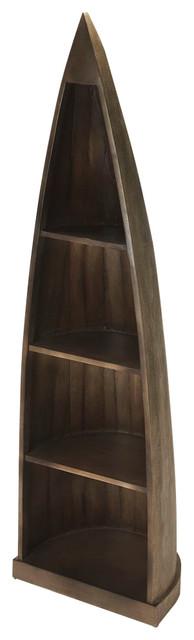 Canoe Washed Gray Bookcase - Gray.