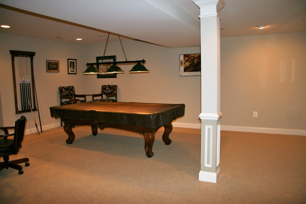 Traditional Basement Remodel