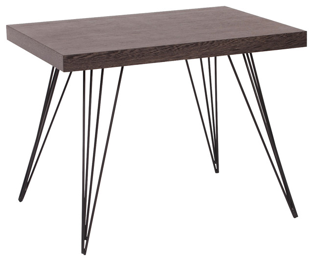 Howard Elliott Black Ash And Wire End Table   Midcentury   Side Tables And End  Tables   By Benjamin Rugs And Furniture