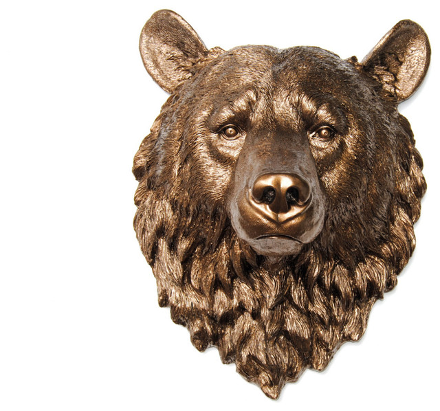Bear Wall Art white bear wall mount - contemporary - metal wall art -near
