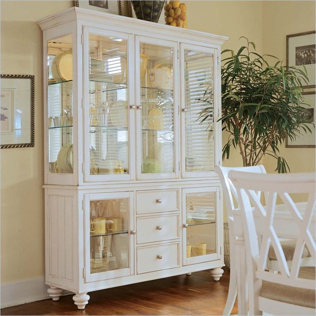 American Drew Camden Antique White China Cabinet ...