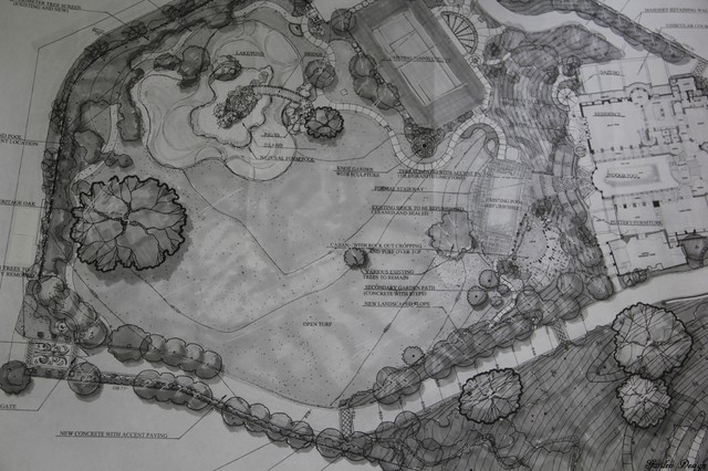 Landscaping drawings john wayne ranch encino for Tetto in stile ranch