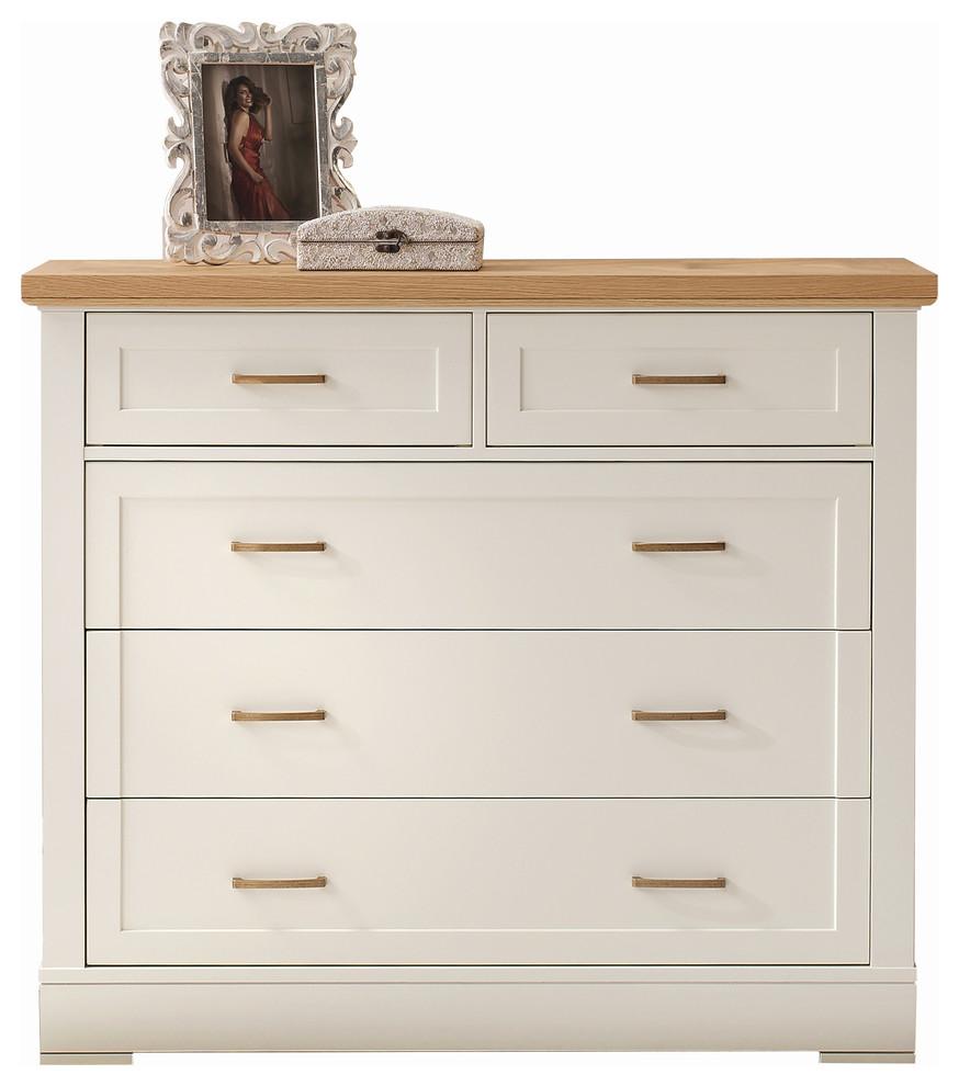Carson Solid Wood 5 Drawer Dresser