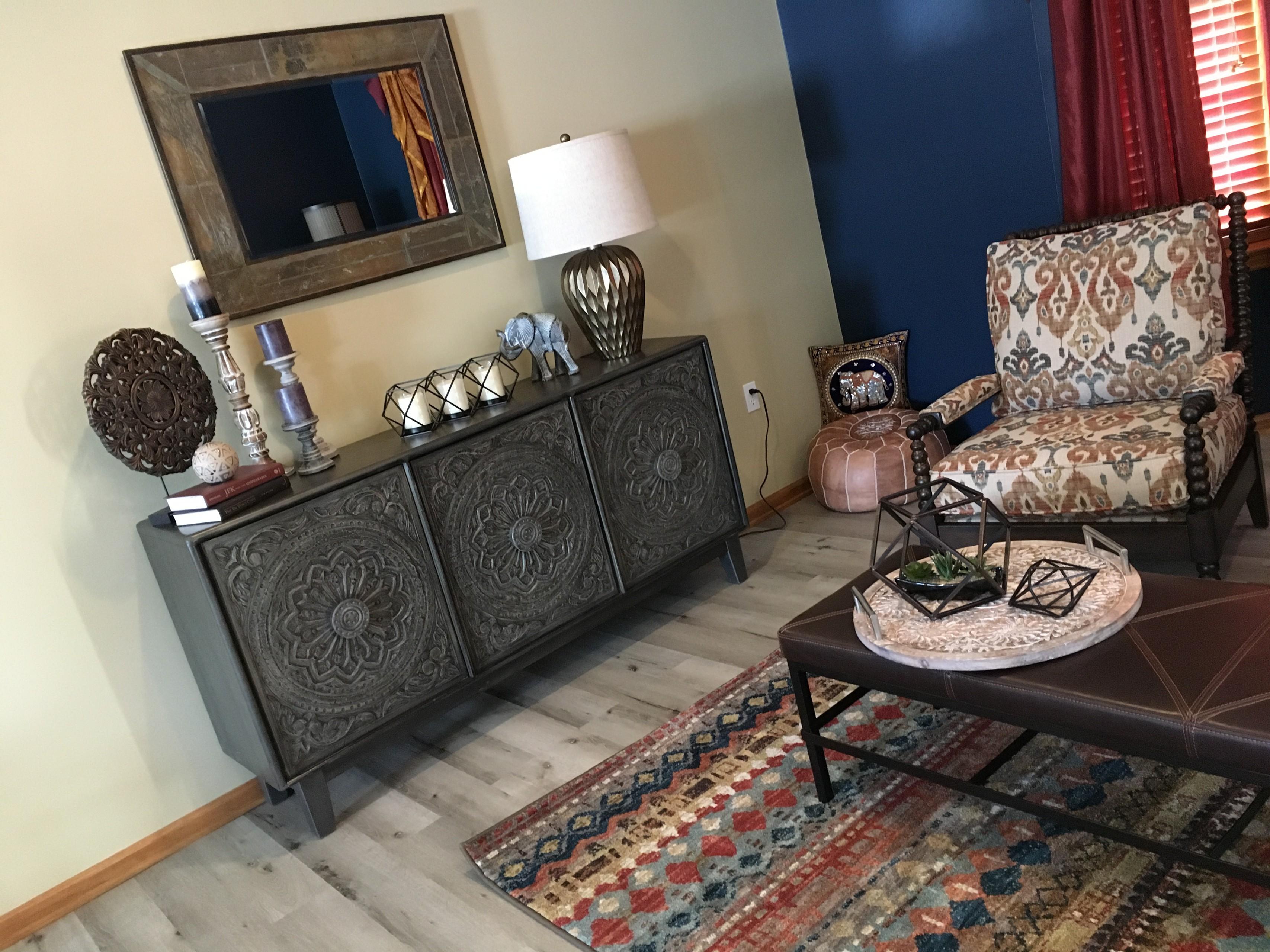 Bohemian family room