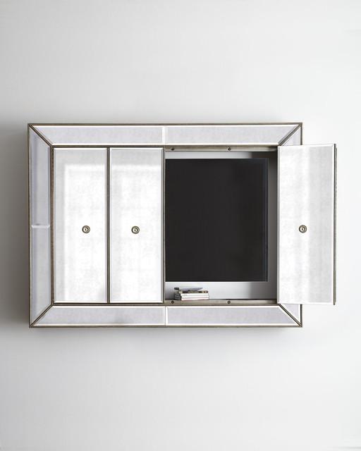Bassett Mirror, Inc. Murano Plasma Wall Cabinet - Contemporary - Entertainment Centers And Tv ...