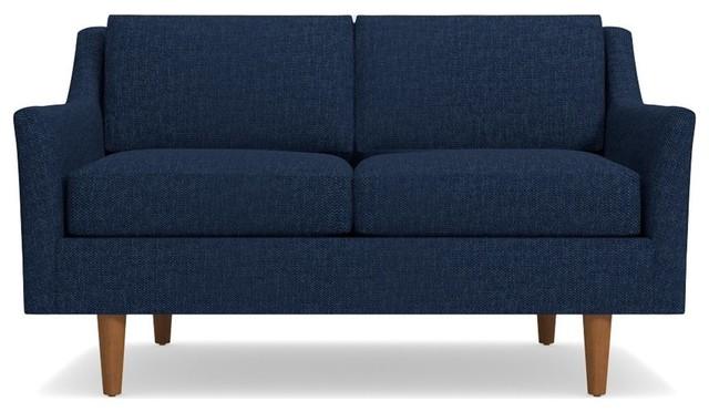 Sutton Apartment Size Sofa, Navy, 56.5x36x32.