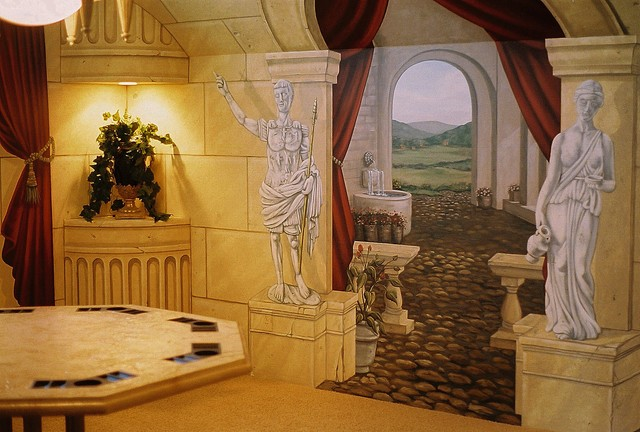 Ancient Rome Poker Room Mural by Tom Taylor of Mural Art LLC