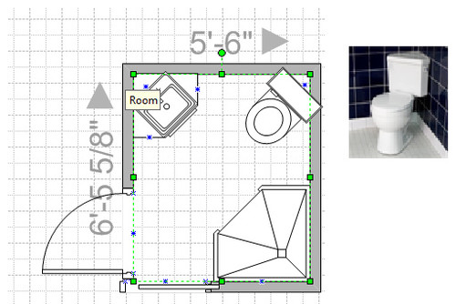 Micro bathroom layout for Space saving bathroom layouts
