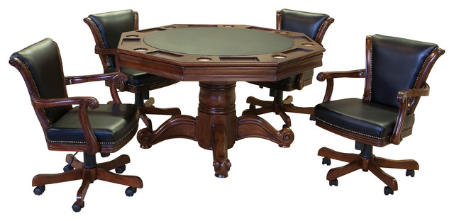 Winslow 2 In 1 Maple Game Table And Winslow Rockers, 5 Piece