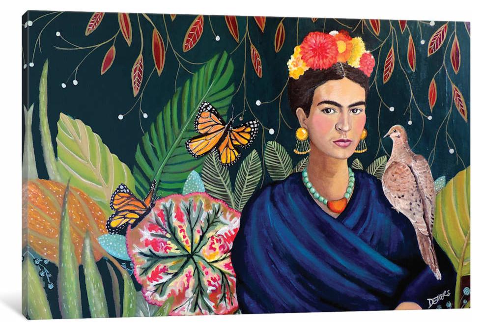 iCanvasART Lone Koi Canvas Print by Iris Scott 26 x 26