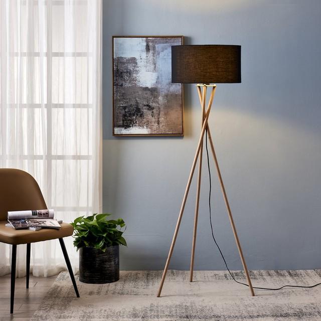 NOA Tripod Floor Lamp, Black