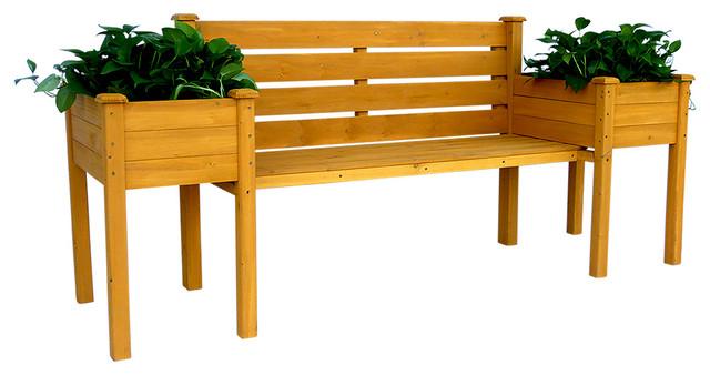Wood Planter Bench.