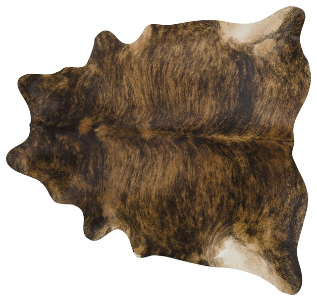 Pergamino Brindle Medium Cowhide Rug, Extra Extra Large.
