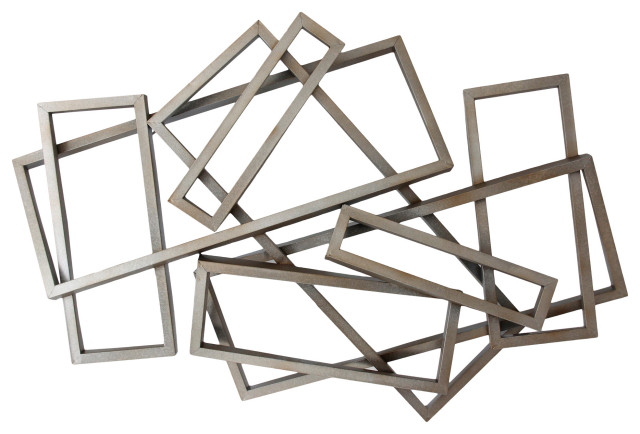 Metal Rectangles Wall Decor
