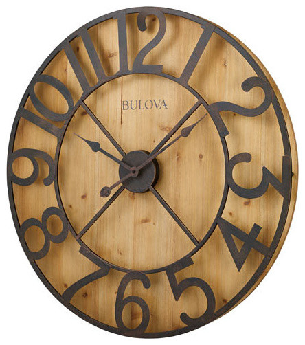 Bulova Clock Bulova Silhouette Over Sized Wall Clock