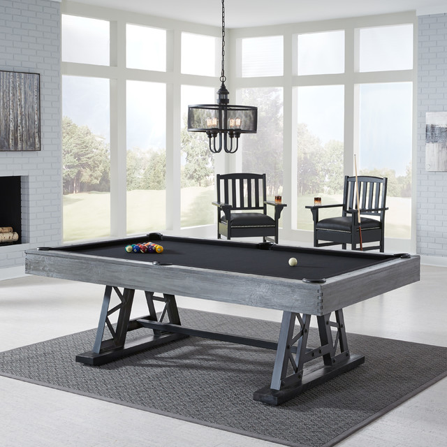 Ambassador Pool Table With Premium Billiard Accessories By American Heritage