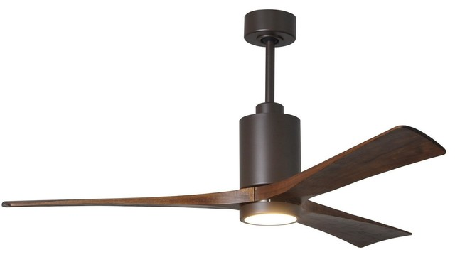 """Patricia 3 Blade Ceiling Fan, Textured Bronze, 60""""."""